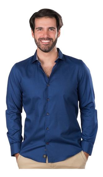 Camisas Hombre Casual Vestir Slim Fit Elegantes Moda Lisa