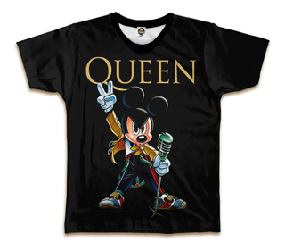 Camiseta Queen Mickey Mouse Fred Mercury Bohemian Rhapsody