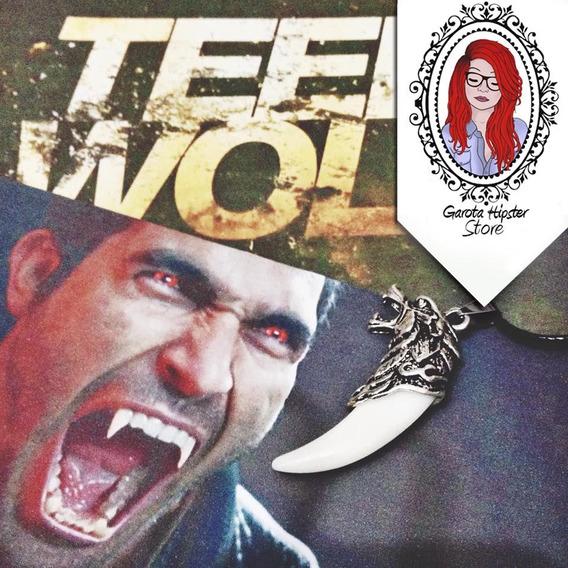 Colar Teen Wolf Dente De Lobo - Prateado