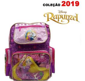 Mochila Rapunzel Enrolados Escolar Original Costas Mod 2019