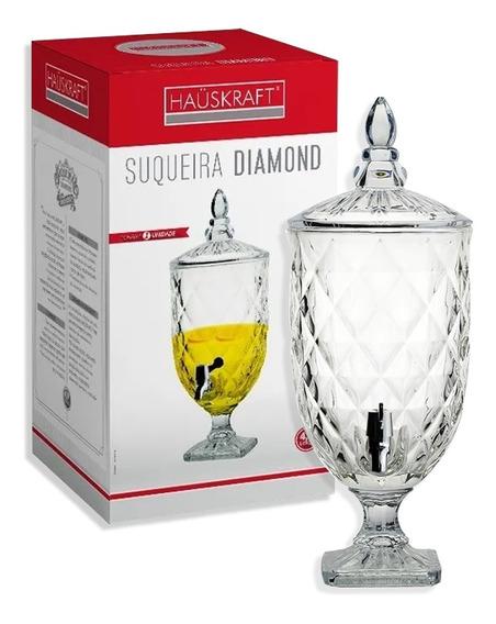 Suqueira Cristal Para Água Ou Bebidas 4,9 Litros