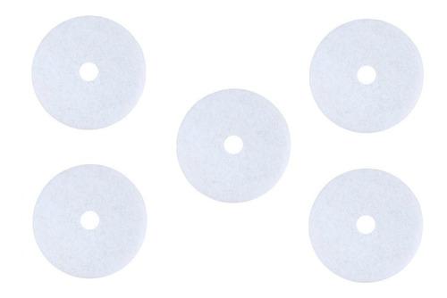 Discos Pad Fibra Para Pulidora 20 Pulgadas Blanco 5 Piezas