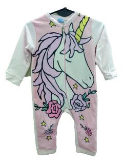 Pijama Enterito Polar Niñas Unicornio Boneco