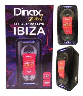 Bafle Parlante Dinax Ibiza Microf/bt/luces 1200w. Bernal
