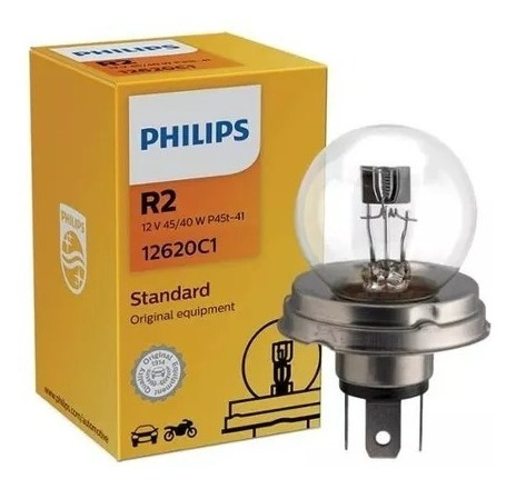 Lampada Automotiva Farol - R2-clara-40/45w-12v - Kit 3 Pc