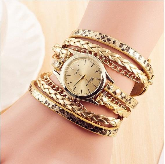 Relógio Feminino Dourado + Frete Grátis