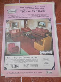 Catalogo Sears Antiguo 60s Muebles Consola Television Raro