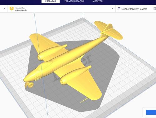 Imagem 1 de 1 de Avião Gloster Meteor - 40cm - Impressão 3d Pla