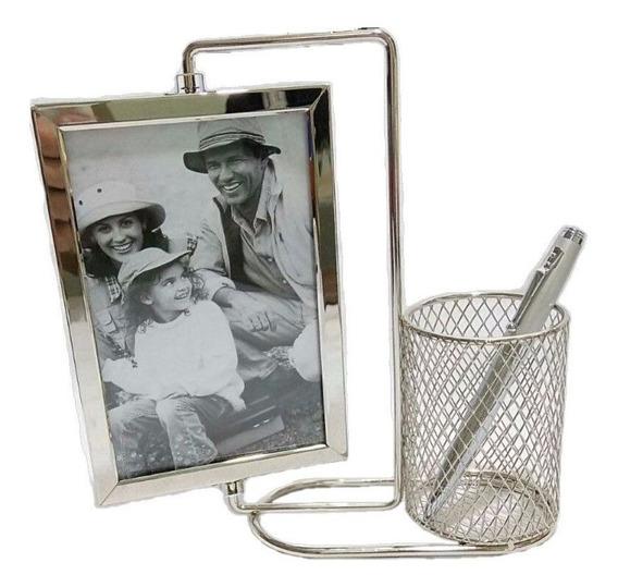 Porta Caneta Em Alumínio - Porta Foto Para Seu Escritório