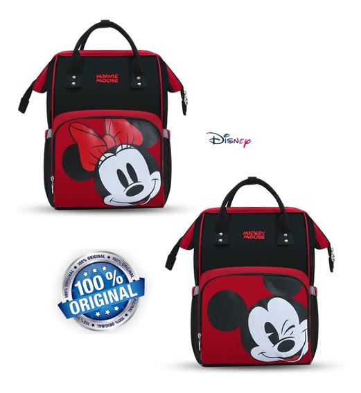 Mochila Bolsa Maternidade Disney Mickey Minie Bebê Fraldas