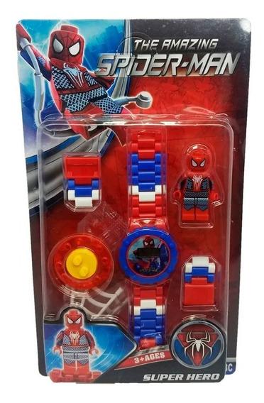 Relógio Digital Infantil Vingadores + Lego Homem Aranha