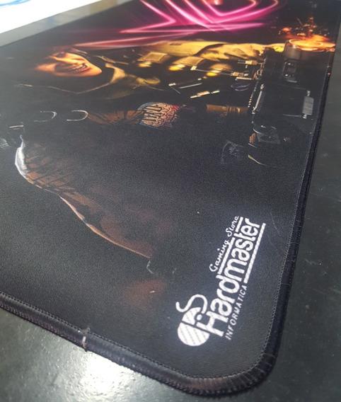 Mouse Pad Gamer 90x40x3mm Emborrachado Borda Costurada