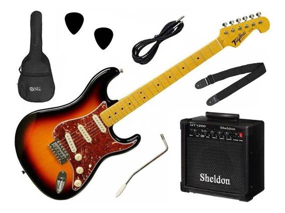 Kit Guitarra Tagima Tg-530 + Amp Sheldon Gt1200 - Nf E Gtia