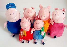 Familia Peppa Pig Com Vovô E Vovó Pelucias