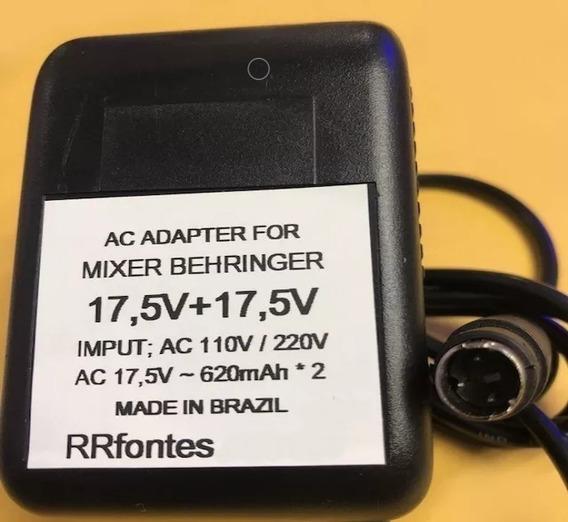 Fonte P/ Mesa Behringer 17,5v 620mah Compatível Diversos Mod