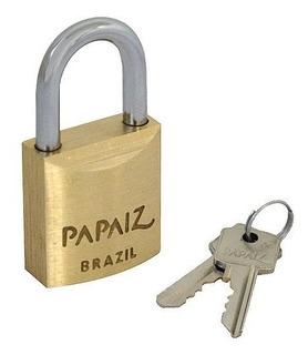 Cadeado Papaiz 20 Mm Com 2 Chaves - Novo - Brasil