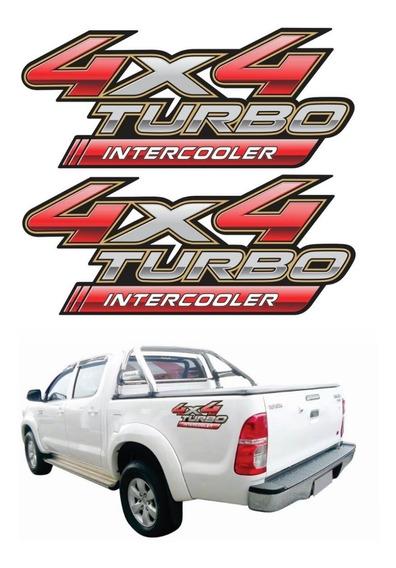 Adesivo Toyota Hilux 4x4 Turbo Intercooler Par 2012 4x4009
