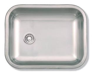 Bacha Simple De Cocina De Acero Inoxidable Mi Pileta Bajo Mesada Modelo 143 Mide 44 X 34 X 15 Cm