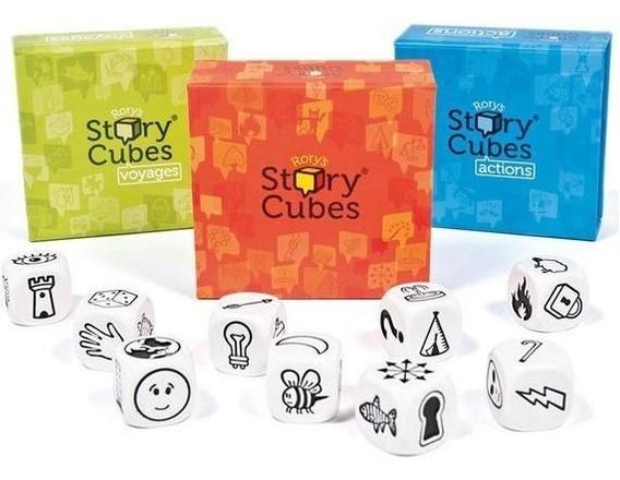 Rory Story Cubes + Ação + Viagens Jogo De Dados Galapagos