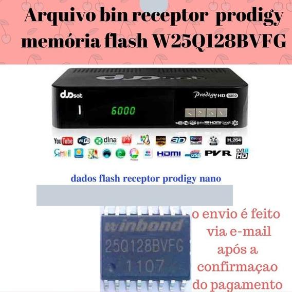 Arquivo Bin Receptor Prodigy Nano Ci Memória Flash W25