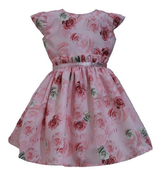 Vestido De Festa Infantil Menina Florido