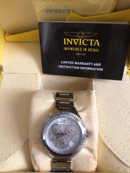 Relógio Invicta Feminino, Em Aço Inox, Modelo 28347