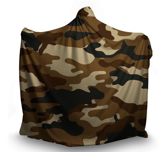 Manta Coberta Com Capuz Tumblr Camuflada Exército Guerra