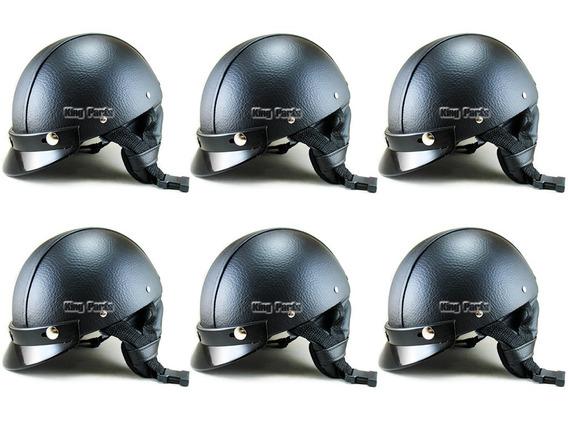 06 Capacetes Coquinho Couro Moto Bike Chopper Custom Harley