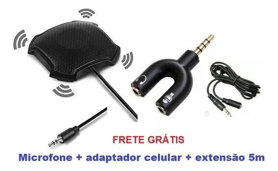 Microfone Conferência Fokey Fk-841 + Adapt.celular, Extensão