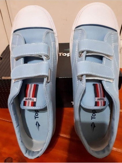 Zapatillas Topper Lona Con Abrojos