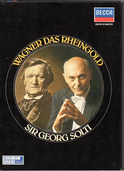 Box Der Ring Des Nibelungen (4 Estojos Com 12 K7 + Libreto)