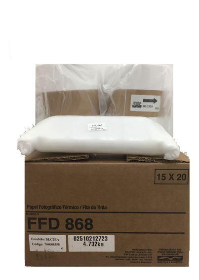 Kit Papel/fita Ffd868 15x20 - 430 Cópias