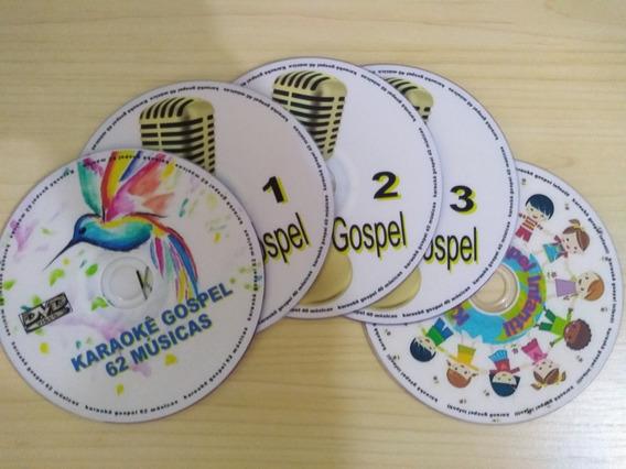 Karaokê Gospel-4 Dvds Com Mais De 180 Músicas Evengélicas