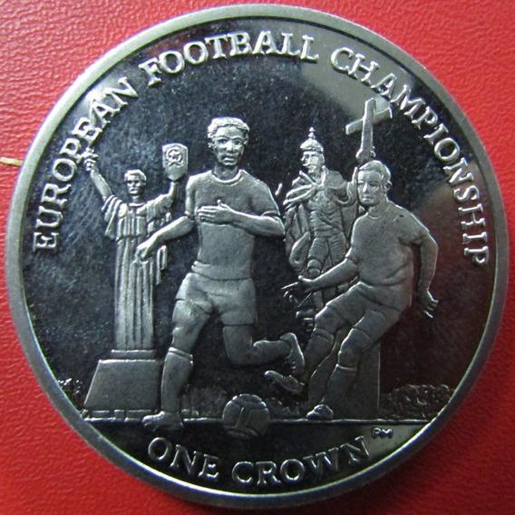Isla De Man Moneda Campeonato De Futbol Europeo 1 Crown 2012