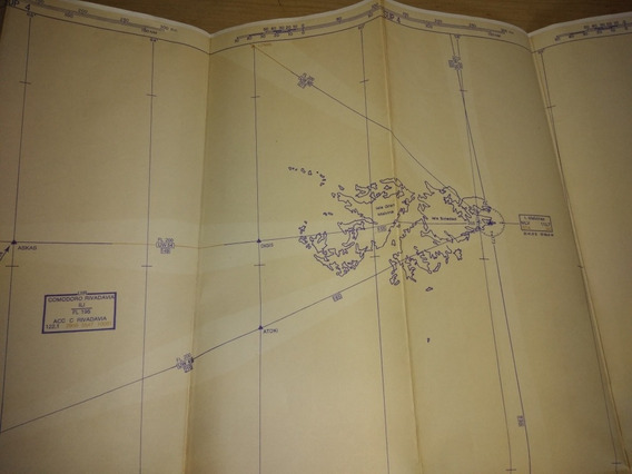 Mapa De Aero Navegación Hacia Malvinas. - 1 X 0,60m