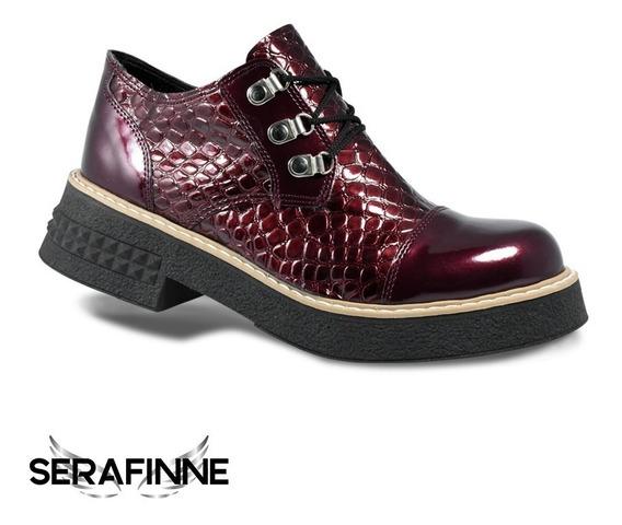 Zapato Urbano Charol Cocodrilo Mujer Plataforma Donna Carola 135
