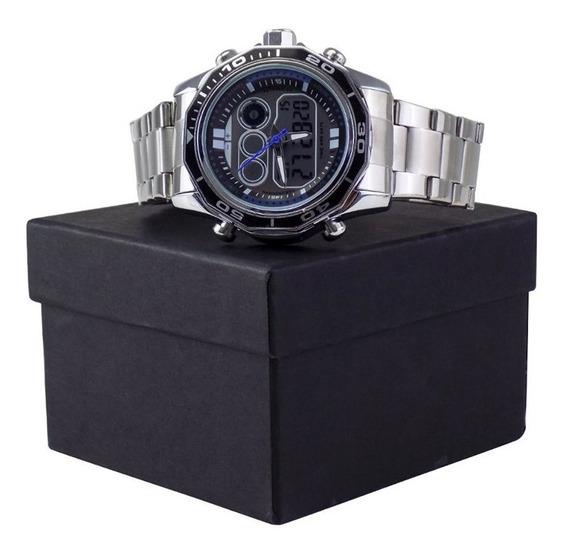 Relógio Masculino Original Aço Qualidade Garantia Caixa Top