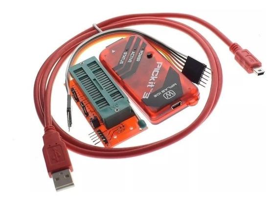 Pickit 3 Programador Gravador Debugger Pickit3 Adaptador Zif