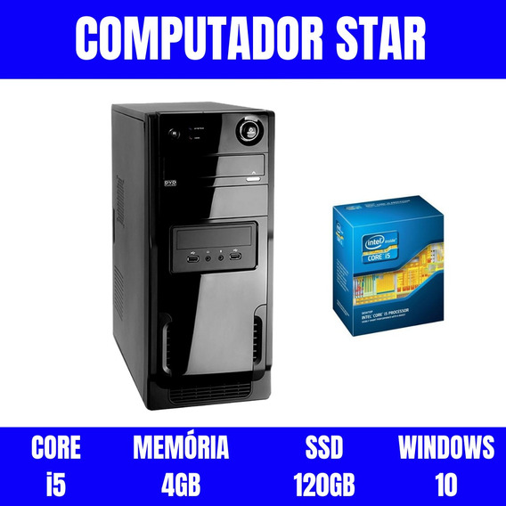 Pc Desktop I5 4gb Ram 120gb Windows 10 Queima De Estoque