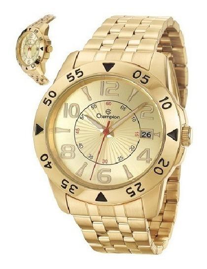 Relógio Champion Masculino Dourado Analógico Original