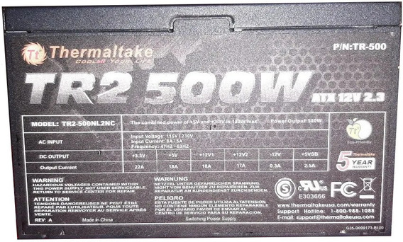 Fonte 500w Real, Thermaltake