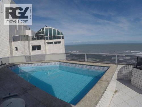 Cobertura Com 2 Dormitórios À Venda, 205 M² Por R$ 700.000,00 - Aviação - Praia Grande/sp - Co0235