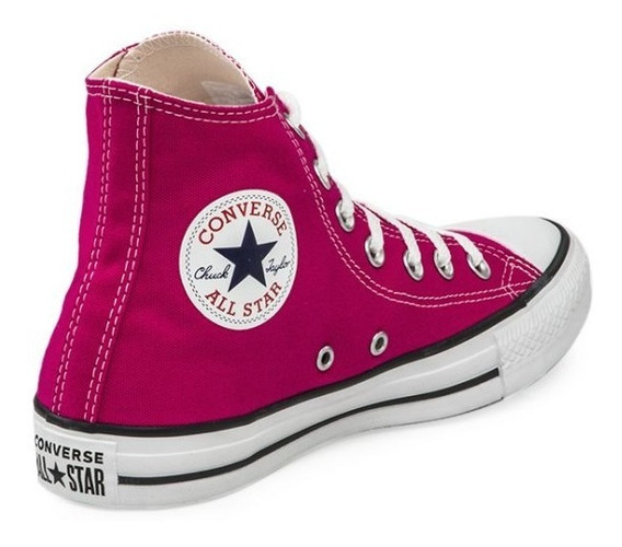 Botita Converse All Star Hi Lona Blanco Negro Rojo Bordo Etc