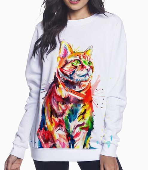 Envío Gratis Sudadera Arte Gato Magico Cat Colors