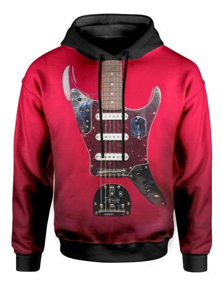 Moletom Com Capuz Unissex Guitarra Fender