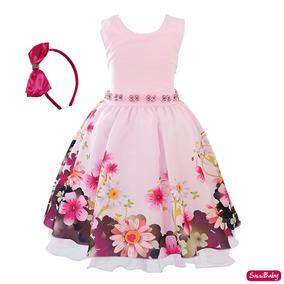 c341cd6dc538c4 Vestido Infantil Festa Rosa - Vestidos para Meninas Festa com o ...