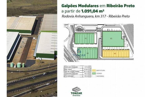 Galpão Modular Para Locação, Condomínio Fechado, Jardim Salgado Filho, Ribeirão Preto. - Ga0649