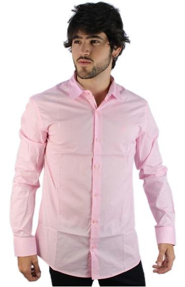 Camisa Social Masculina Polo Wear Rosa 000062609