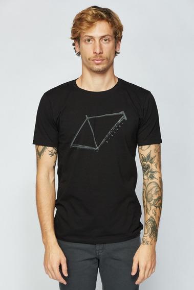 Camisa Sense Casual Wear Quadro Camiseta Masculino Preto