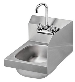 Krowne Metal Hs-9-rs Space Saver Wall Mount Hand Lavabo W /